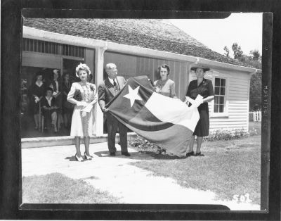 Flag presentation from H. Lowman to Mrs. H. Martin, 1943