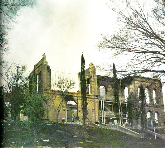 Remaining brick structures of Old Main