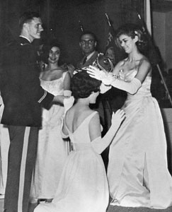 Sweetheart being crowned