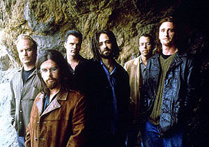 Group photo of the band Counting Crows.