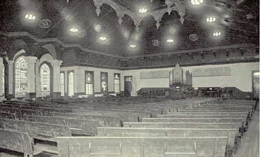 A view of the Memorial Auditorium in Old Main, taken about 1920.