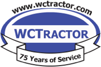 wctractor 75 years of service logo