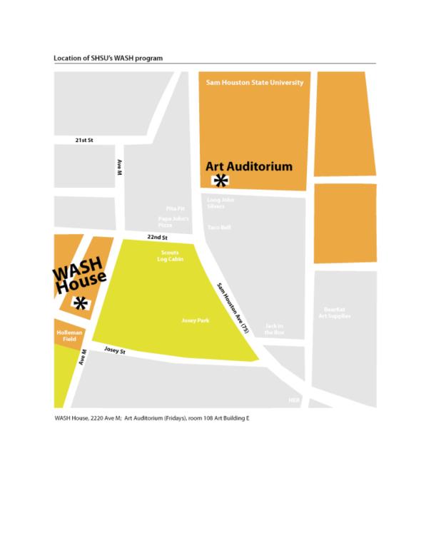 Map of the WASH program art house