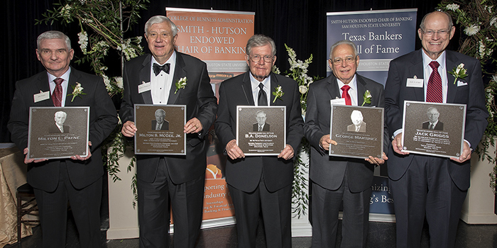 2017 Texas Bankers Hall of Fame Honorees
