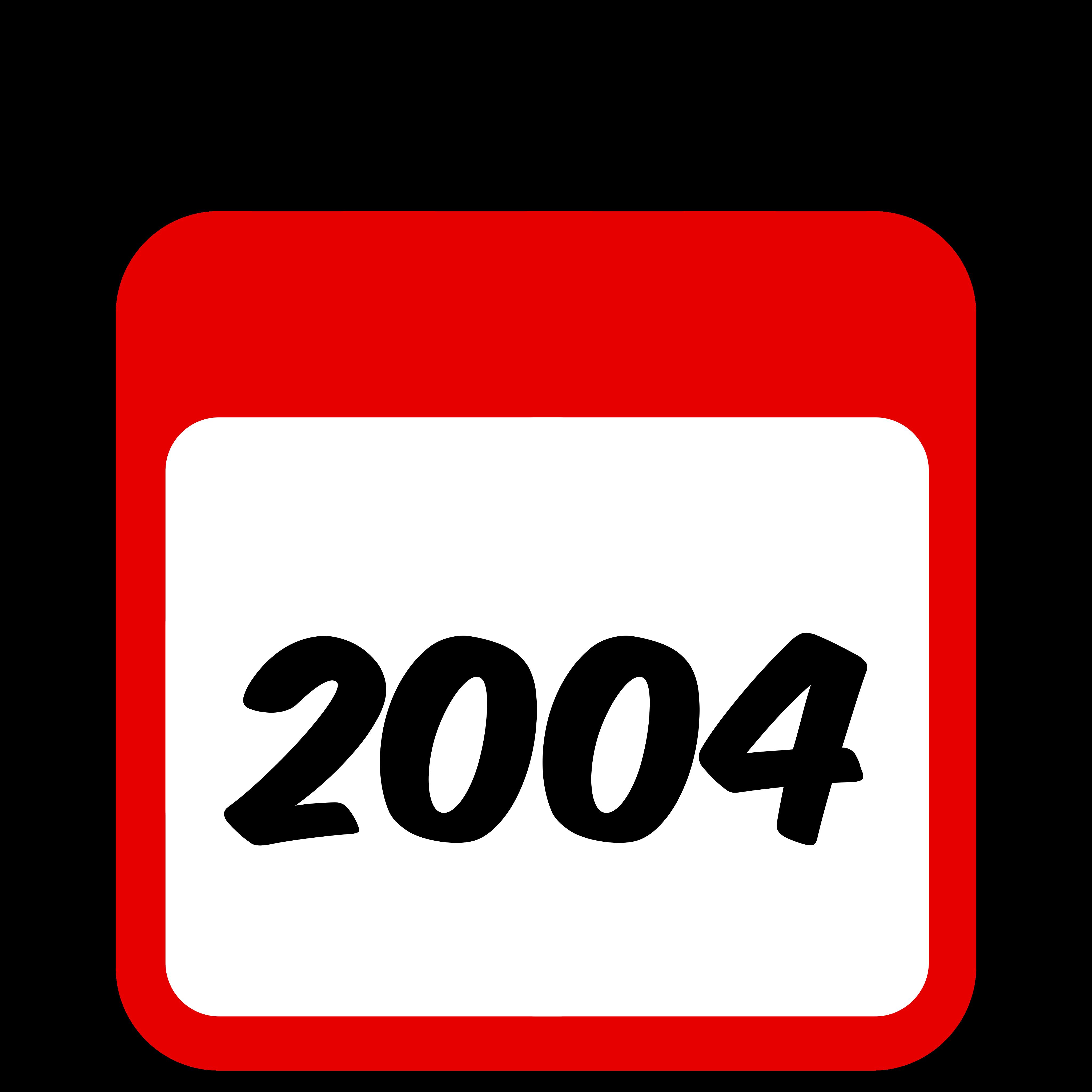 2004 Calendar Graphic