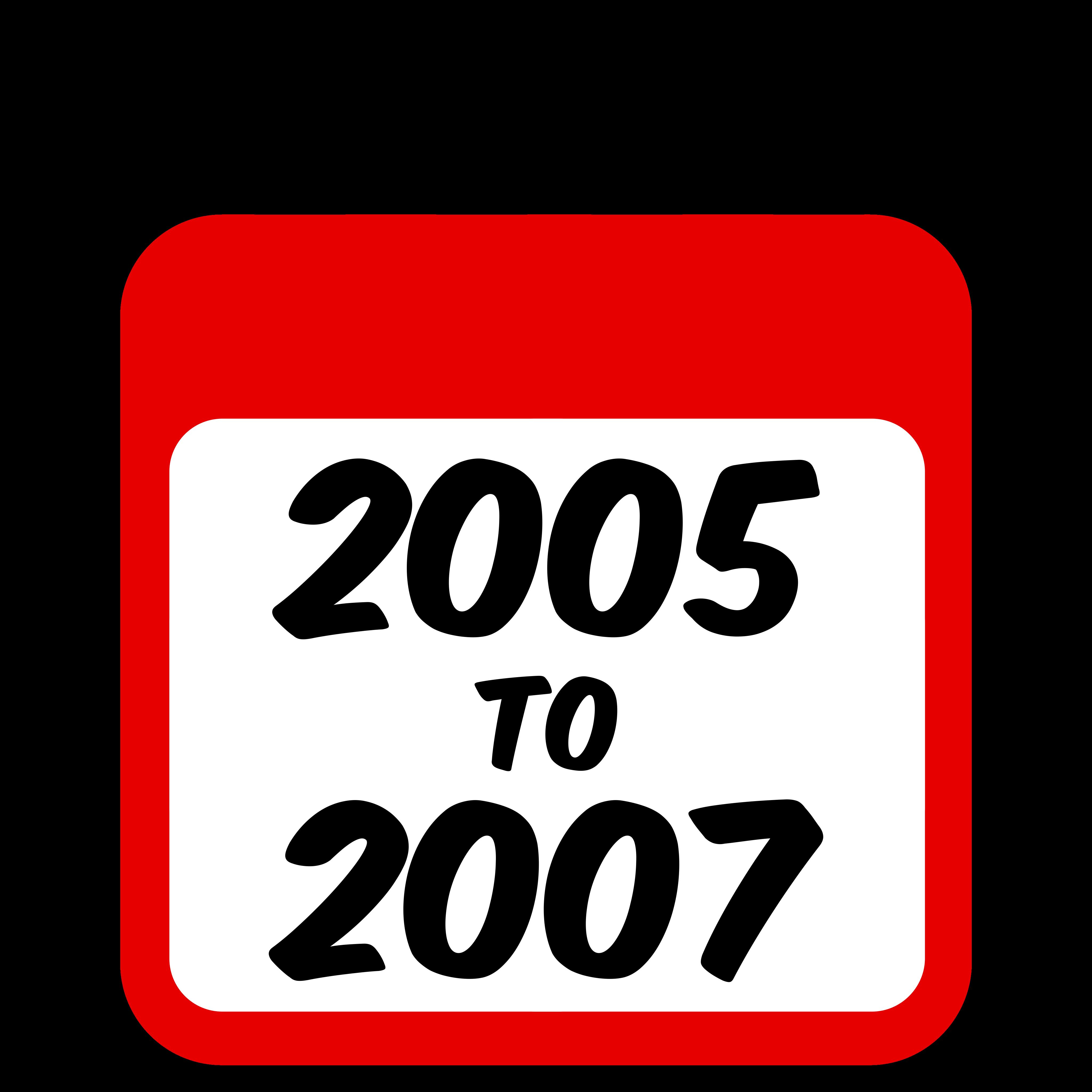 2005 to 2007 Calendar Graphic