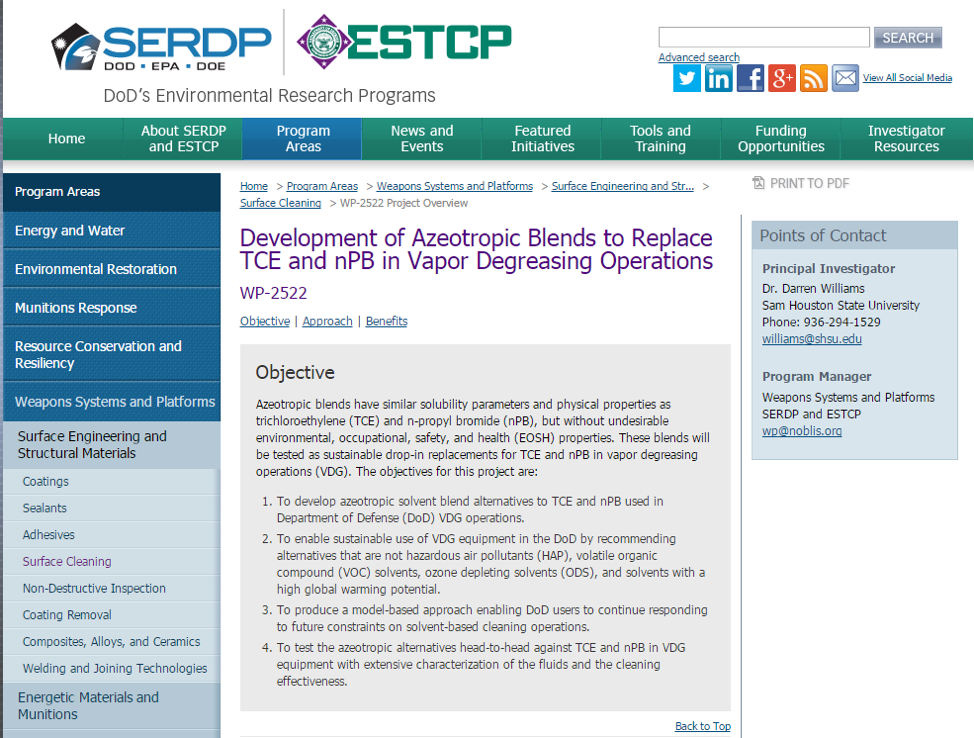 SERDP Website