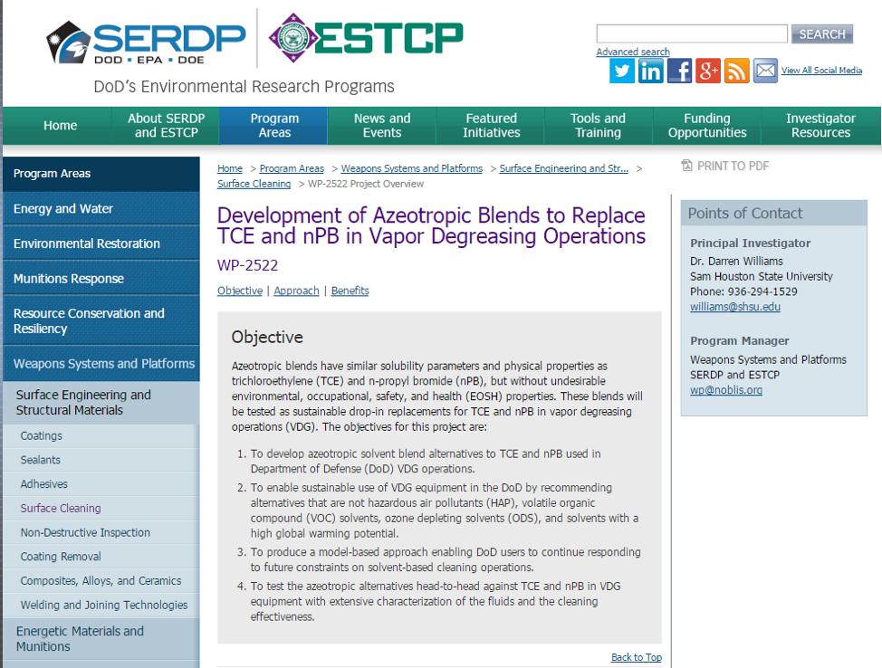 SERDP Website