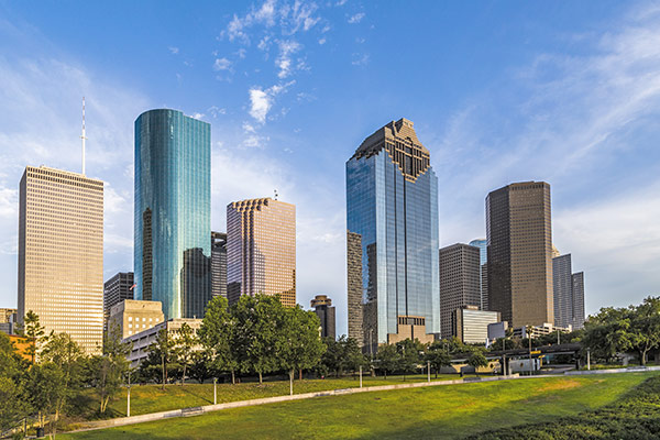 The Beautiful Houston Skyline - Jorg Hackemann