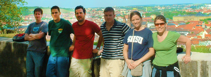 Students pose for picture - study abroad