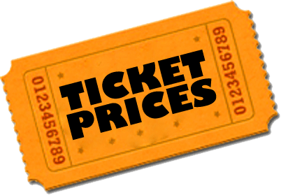 Ticket prices for theatre shows.