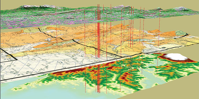 Geographic Information System Multi Layer Map
