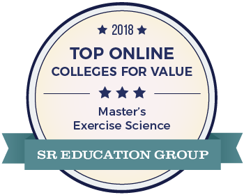 2018 Top Online Colleges for Value Master's Exercise Science SR Education Group