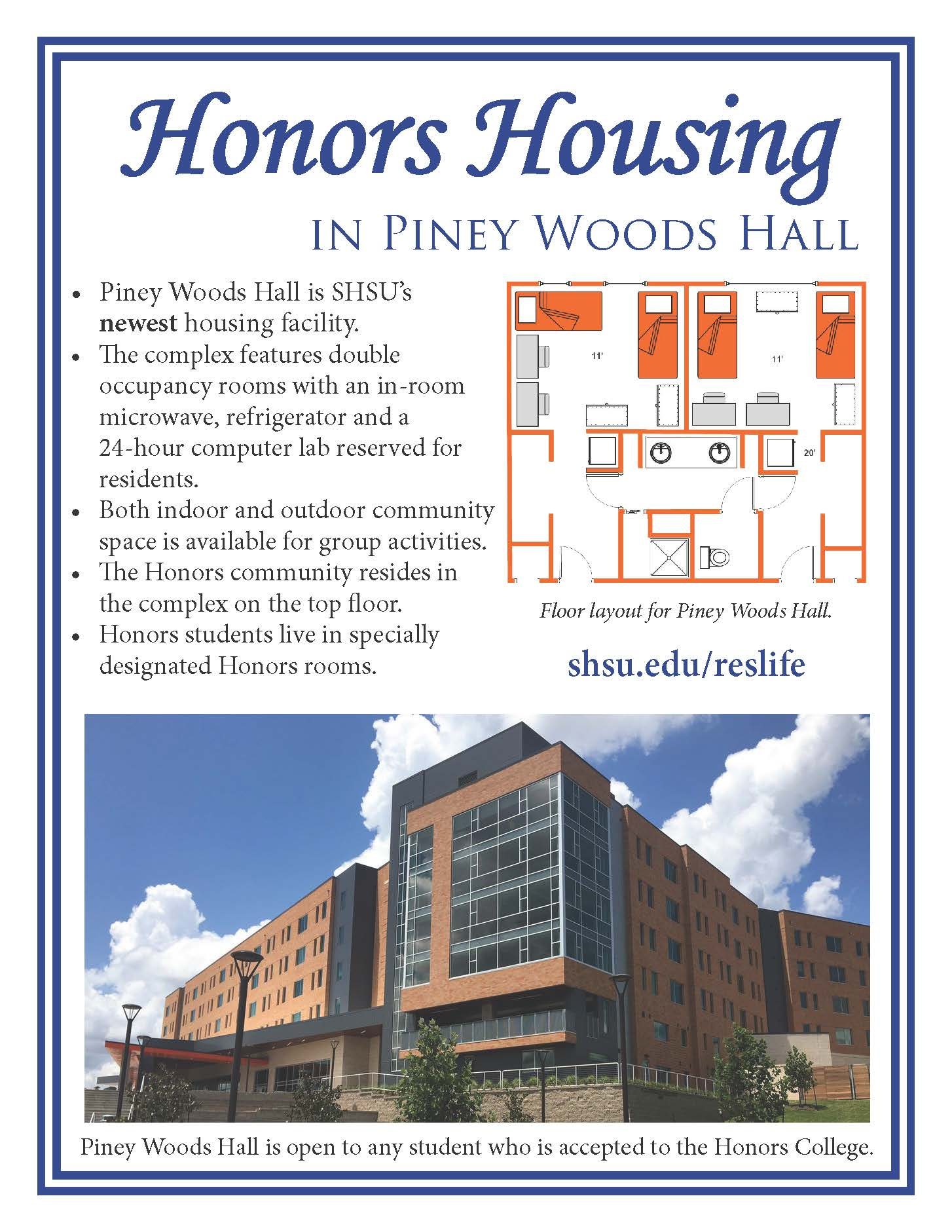 Honors Housing | Sam Houston State University on