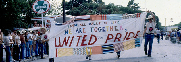 First pride parade in Houston, 1979.