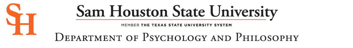 Sam Houston State University Department of Psychology and Philosophy Letterhead