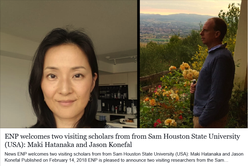 ENP welcomes two visiting scholars from Sam Houston State University (USA)