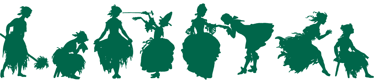 Silhouettes in various poses.