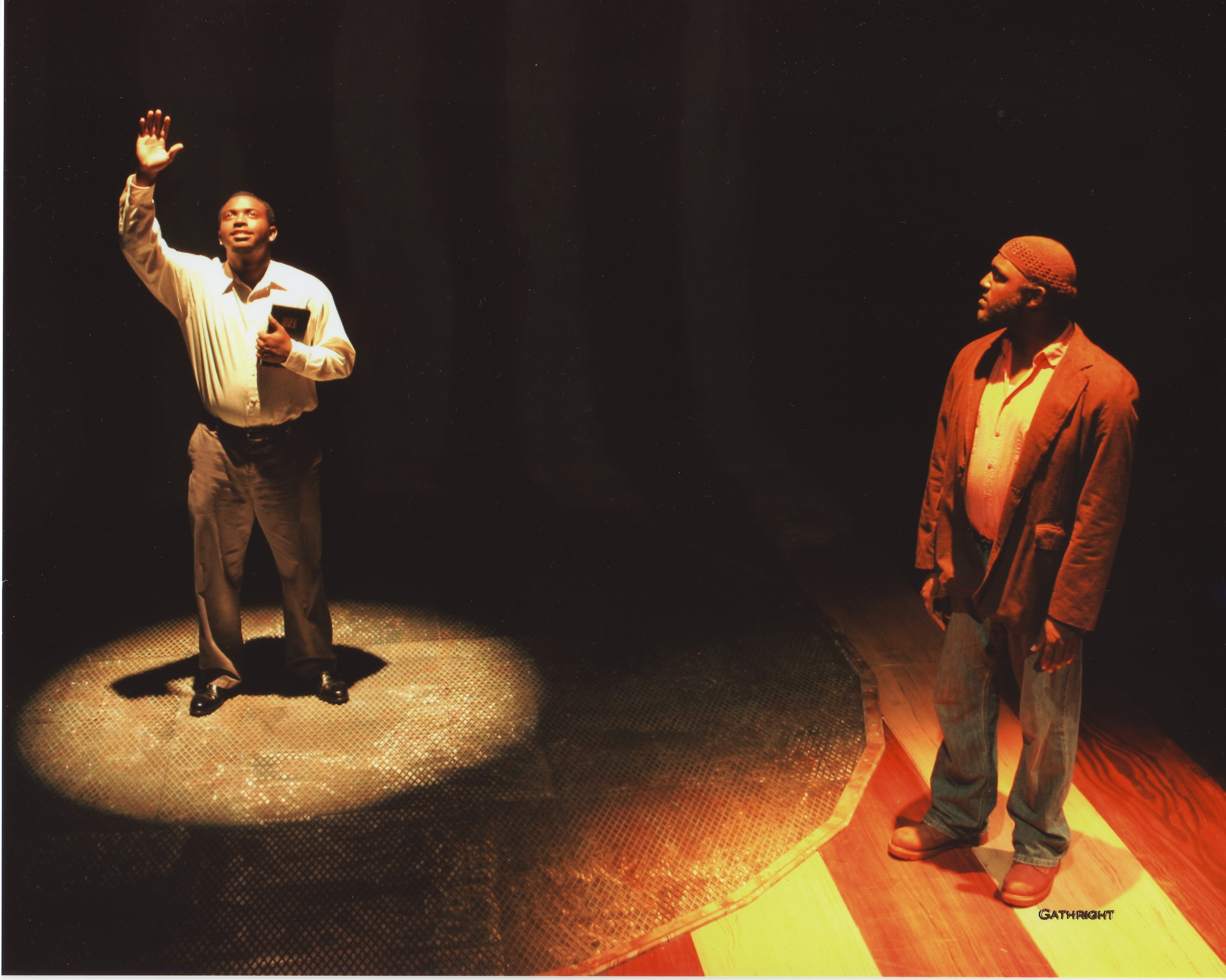 Actors performing in the play titled The Exonerated
