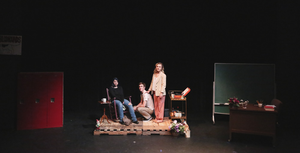 SHSU theatre actors on stage in Story Telling Ability of a Boy