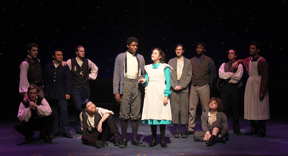 SHSU theatre actors on stage in  PeterandtheStarcatcher