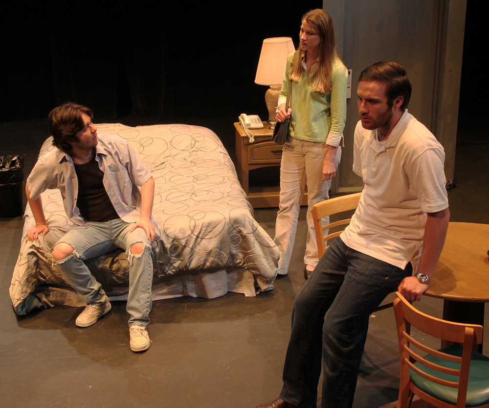SHSU theatre actors on stage in Tape