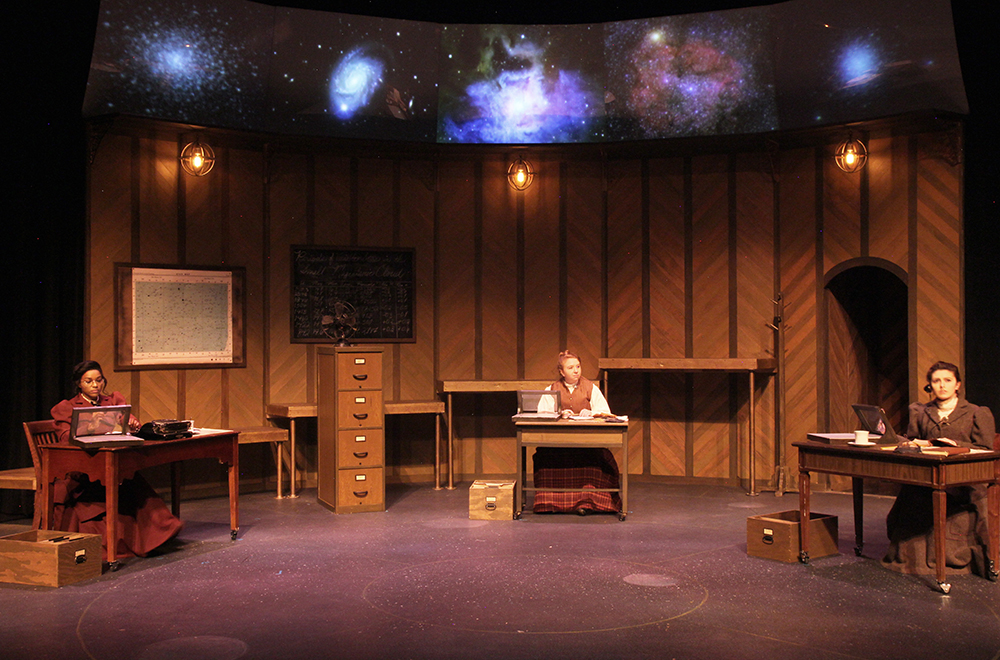SHSU theatre actors on stage in Silent Sky