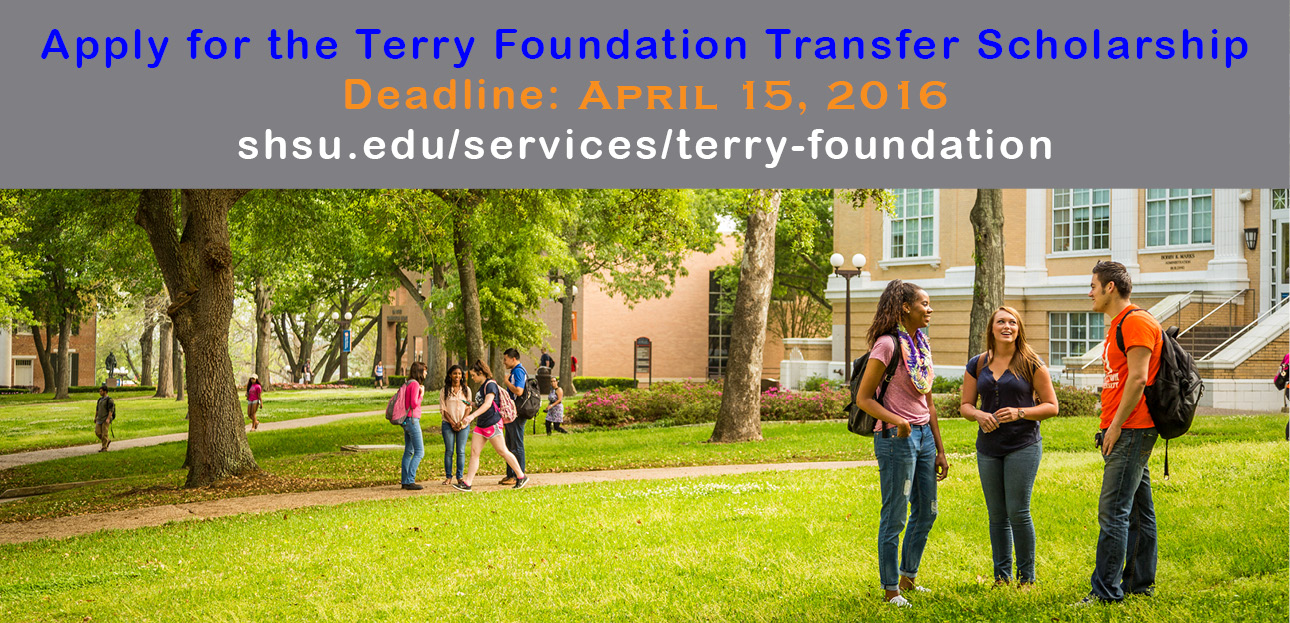 Apply for a Terry Transfer Scholarship!