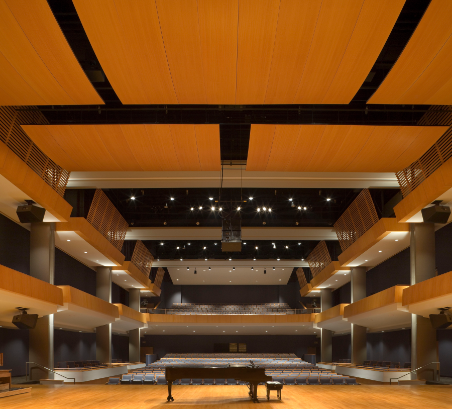 Gaertner Performing Arts Center  Concert Hall with chairs