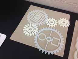 3-D printing gears art project