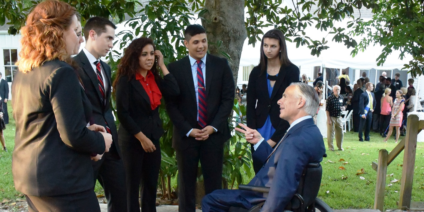 LEAP Center Students Learn Campaigning from Governor Abbott.