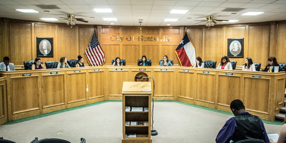 Students Participate in Mock City Council