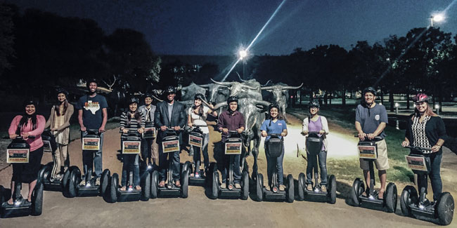 LEAP Center Students Explore the Hisotry of Dallas on a Segway