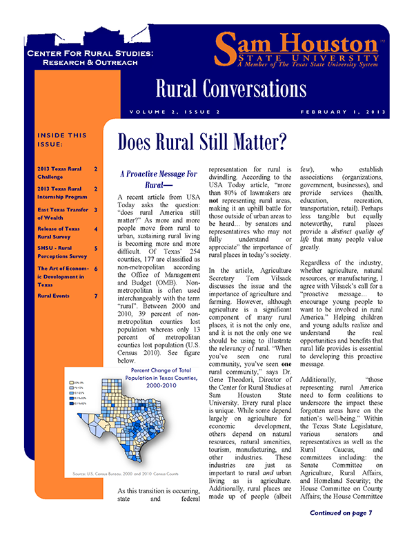 Rural Conversations Newsletter