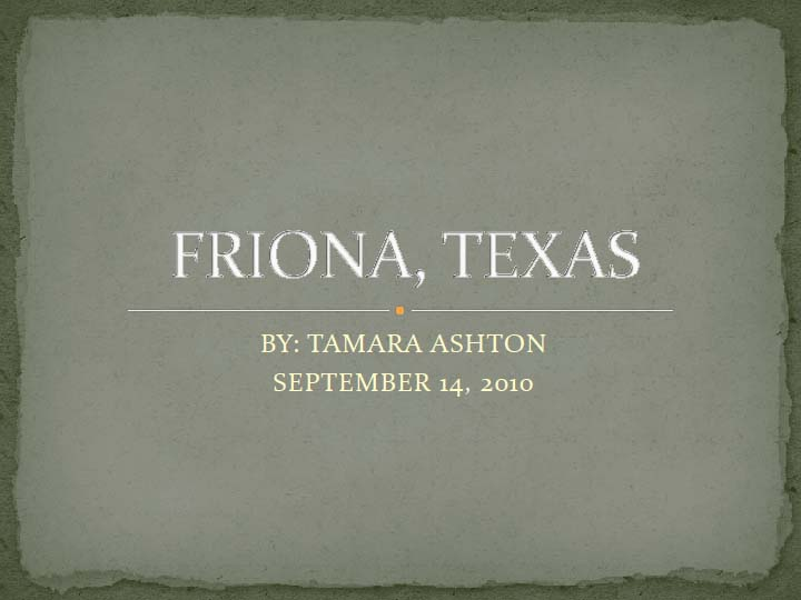 Friona, Texas by Tamara Ashton