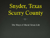Snyder Texas Scurry County