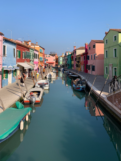 thumbnail view of Sense of Place - Madeleine Dierksheide - Italy - Spring 2020 - Main Street in Burano - The main street in Burano, the only underrated place near Venice