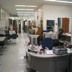 The Government Documents room contains documents from the United States and Texas governments. Newton Gresham Library is a depository library for government documents.
