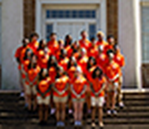 Photo of the Bearkat Orientation workers.