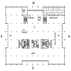 Map of library's third floor. The third floor houses books with call numbers starting in N through Z and the LS call numbers, which consist of juvenile/young adult books.
