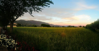 thumbnail view of Natural Beauty - Sarah Doverspike - Italy - Summer 2019 - Assisi Sunset - This was the view a group of us just happened to come across walking back to our hotel while the sun was setting