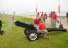 Cannon Crew Reloads in Preparation for the point after.