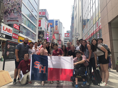thumbnail view of Bearkat Pride - Anh Duong - Japan - Summer 2019 - Akihabara Trip with students - SHSU students and Toyo Gakuen students visited Akihabara together