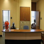 The Library Director's office is located in the northwest corner of the second floor. This office handles applications for graduate student study carrels, submission of theses and dissertations, and all administrative functions of the library.