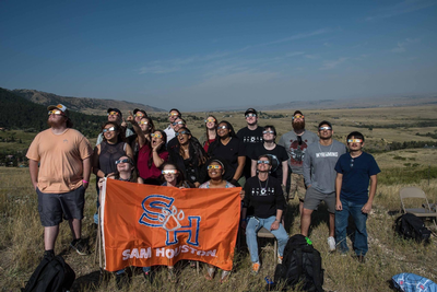 thumbnail view of Bearkat Pride - Cristal Hernandez - USA - Summer 2017 - BearkatEclipse - As a part of the study abroad trip, we were able to witness the 2017 Solar Eclipse in Casper, Wyoming