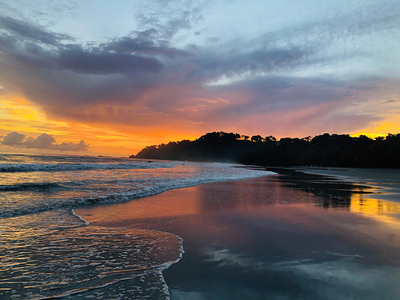 thumbnail view of Natural Beauty - Joana Vaca - Costa Rica - Summer 2019 - Sunset Manuel Antonio - Here you can observe the beautiful sunset at the beach Manuel Antonio