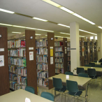 The third floor houses books with call numbers starting in LS and N through Z; the juvenile/young adult collection in the LS section uses Dewey Decimal call numbers, rather than the Library of Congress call numbers found in the rest of the collection.