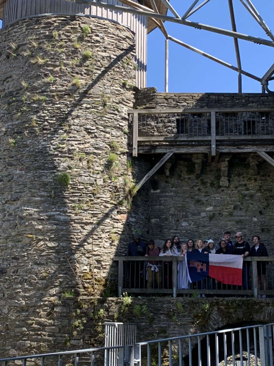 thumbnail view of Bearkat Pride - Alaura Goad - Germany - Summer 2019 - Bearkats at a Castle on a Hill - We got to visit a real life castle and explore all of its history and even sat in its tower
