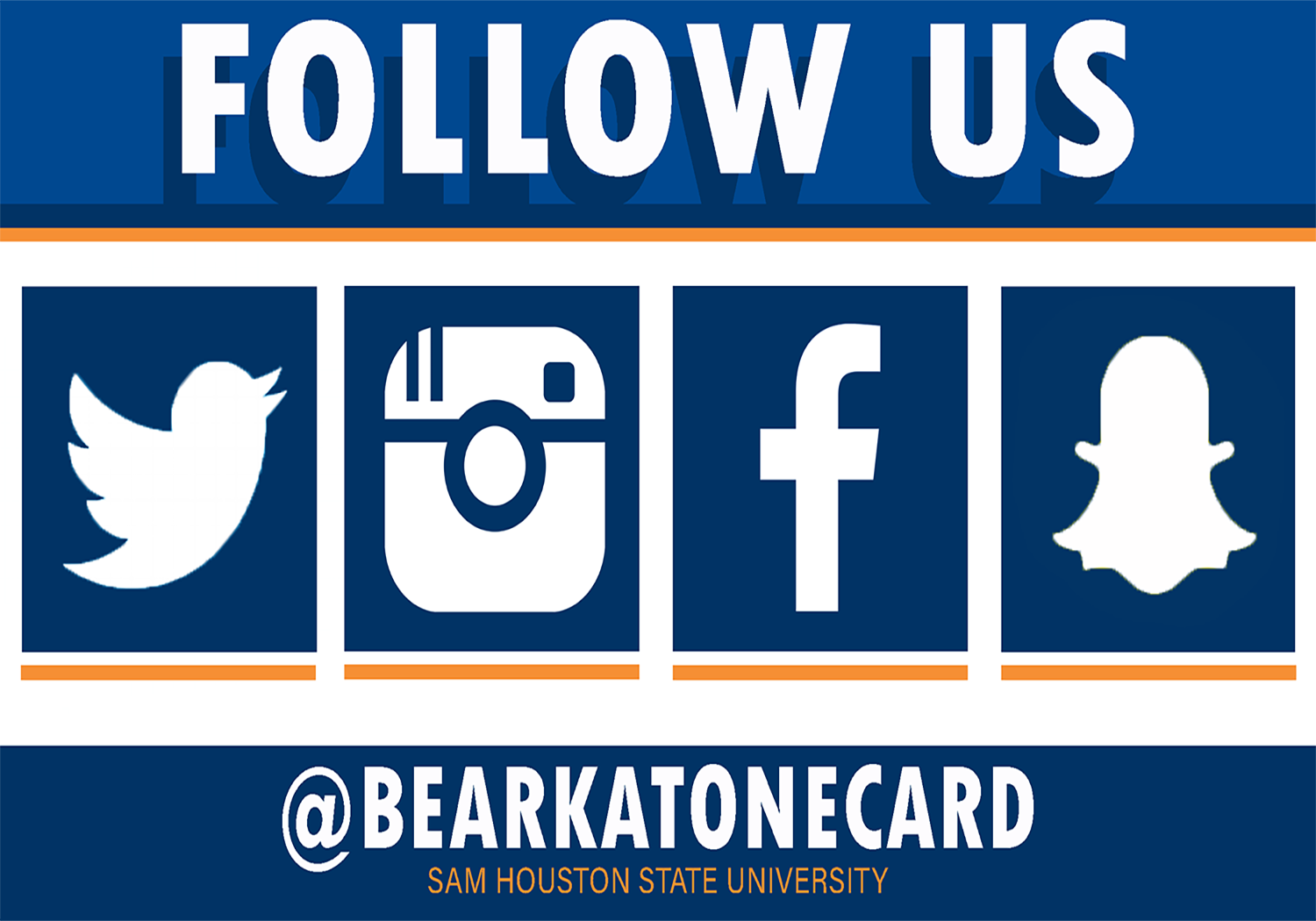 Follow us on Twitter, Instagram, Facebook and Snapchat @Bearkatonecard