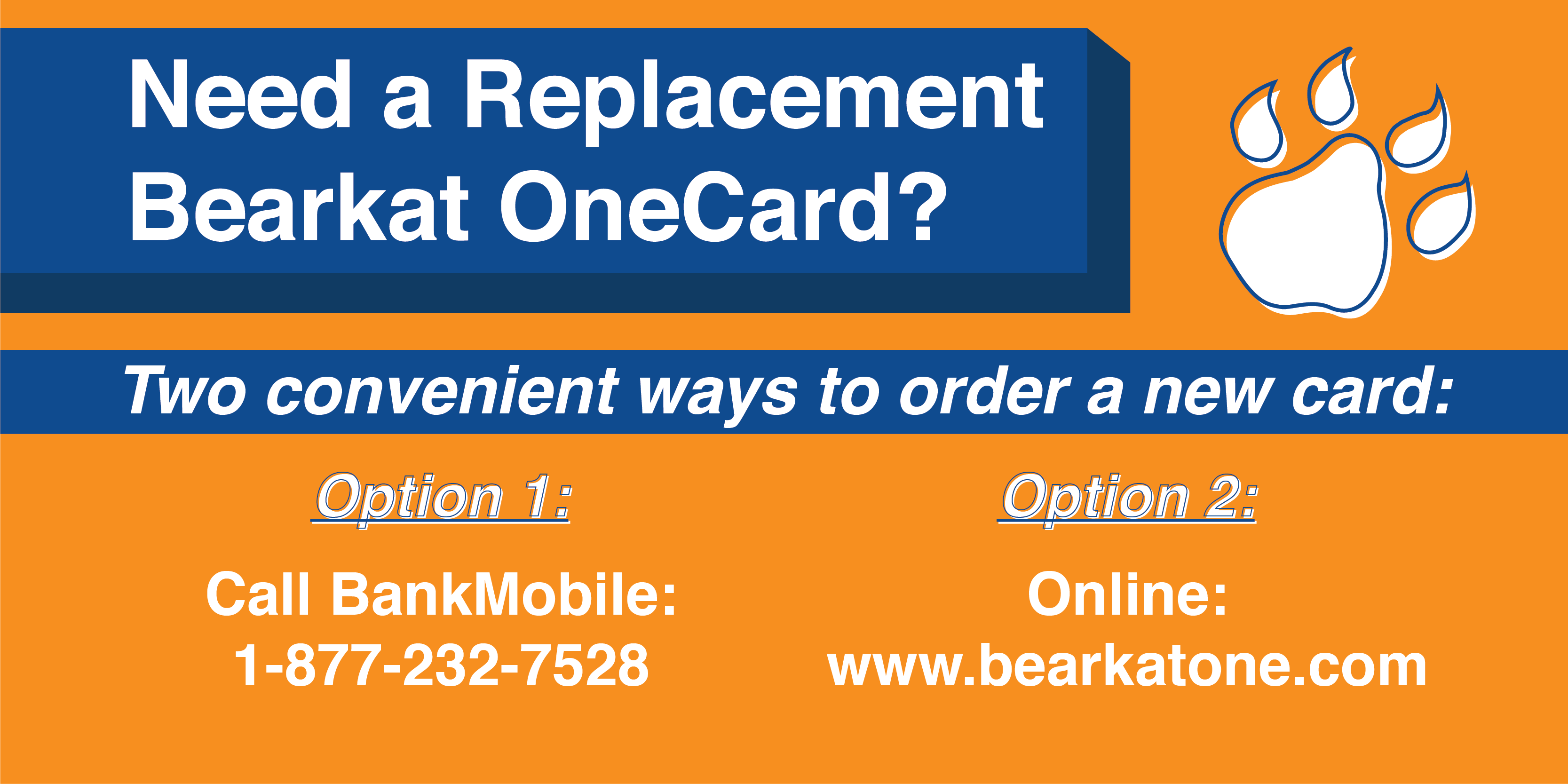 Order a Replacement Card